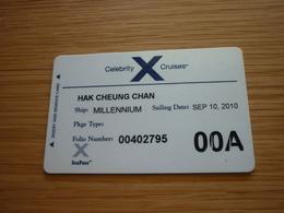 Celebrity Cruise Cruises MILLENNIUM Ship Cabin Magnetic Boarding Key Card - Cartes D'hotel