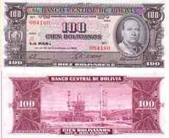 Bolivie - Bolivia 100 BOLIVIANOS (L 1945) Pick 147 NEUF-UNC - Bolivie
