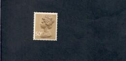 Great Britain 1977 QUEEN ELIZABETH HEADS 50 Pence Con Fosforo Fra.1208 - Nuovi