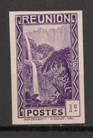 Réunion - 1933 - N°Yv. 125a - Cascade 1c - Variété - Non Dentelé / Imperf. - Neuf Luxe ** / MNH / Postfrisch - Réunion (1852-1975)