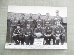 GRANDE PHOTO EQUIPE DE FOOT FRANCE BELGIQUE  EQUIPE DE FRANCE 1963 - Sport