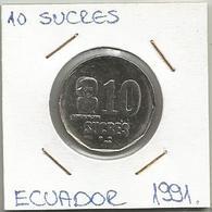 A10 Ecuador 10 Sucres 1991. - Ecuador