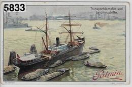 Palmin - Handelsschiffe Serie 70, Bild 4 - Transportdampfer Und Leichterschiffe - Trade Cards