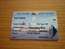 Star Cruises Cruise WORLD CRUISER Ship Cabin Magnetic Boarding Key Card - Cartes D'hotel