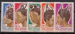 Centrafricaine - 1967 - N°Yv. 89 à 93 - Coiffures - Neuf Luxe ** / MNH / Postfrisch - Zentralafrik. Republik