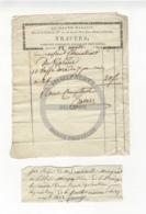 /!\ 1293 - Parchemin - 1822 - Paris - Facture Et Règlement Magasin Travers - Ornements D'église - Manoscritti