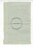 /!\ 1295 - Parchemin - 179x? - Lettre Au Citoyen Juge, Sentence Et Condamnation D'un Militaire - Manoscritti