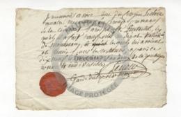 /!\ 1297 - Parchemin - 1793 - Montmorency - Recu Du Garde Du Dépot Des Médailles - Manoscritti