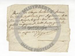 /!\ 1298 - Parchemin - 1793 - Reçu Militaire, Service De La Patrie - Manoscritti
