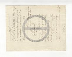 /!\ 1292 - Parchemin - 1824 - Ivry - Mémoire D'ouvrages De Maconnerie - Manoscritti