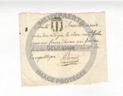 /!\ 1300 - Parchemin - 1794 - Reçu Du Comité Révolutionnaire Pour Les Frères Aux Frontières - Manoscritti