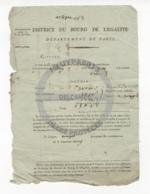 /!\ 1296 - Parchemin - 1792 - Ivry (Bourg De L'égalité)- Contribution - Manoscritti