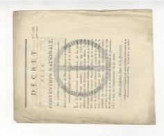 /!\ 1299 - Parchemin - 1793 - Décret De La Convention Nationale - Manoscritti