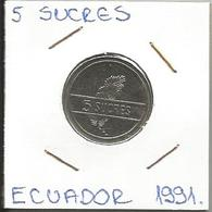 A11 Ecuador 5 Sucres 1991. - Ecuador