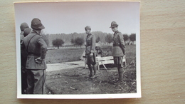ITALIA PIEMONTE FOTO CON MILITARI ED UFFICIALI DA CAMBIANO TORINO 1938 - Foto