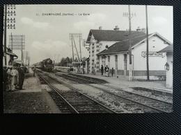 CPA (72) - CHAMPAGNE - La Gare (s) - France