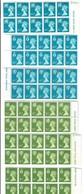 Great Britain 1976 QUEEN ELIZABETH HEADS Scozia Irlanda Galles  6,5+8,5 Pence Con Fosforo Blocchi 10 Valori Fra.1210 - Nuovi