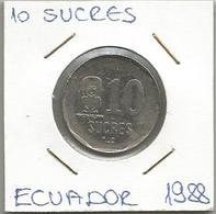 A12 Ecuador 10 Sucres 1988. - Ecuador