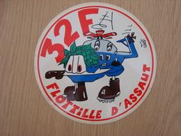 AUTOCOLLANT 32 F FLOTILLE D'ASSAUT - Stickers