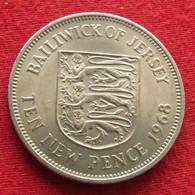 Jersey 10 New Pence 1968 KM# 33 - Jersey