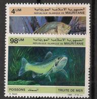 Mauritanie - 1986 - N°Yv. 592 à 593 - Poissons - Neuf Luxe ** / MNH / Postfrisch - Mauretanien (1960-...)