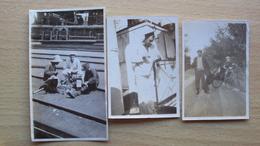 ITALIA CINA CHINA 3 FOTO CON MARINAI ITALIANI MISSIONE MARINA IN CINA CHINWANTAO 1927 - Altri