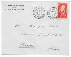 1951 - ENVELOPPE Du CONSEIL De L'EUROPE à STRASBOURG Avec OBLITERATION SPECIALE - Storia Postale
