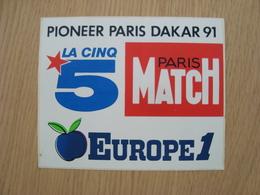 AUTOCOLLANT PIONEER PARIS DAKAR 91 - Adesivi