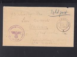 Dt. Reich Feldpost Flüchtlingskontrollkommission Brest 1940 Biala Podlaska Polen Poland - Briefe U. Dokumente