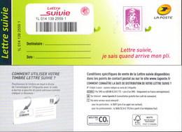 LA LETTRE SUIVIE (LS 1) Type Ciappa 1er Tirage 2015. Fond De L'adresse En Vert. Peu Vendu, RARE. - Frankreich