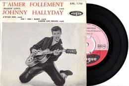 PREMIER EP VOGUE JOHNNY HALLYDAY - 1960 - EXCELLENT ETAT - CENTREUR - LIVRAISON GRATUITE - Rock