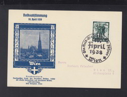Österreich PK Volksabstimmung 1938 Wien - 1918-1945 1. Republik
