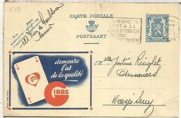 BELGICA ENTERO POSTAL PUBLIBEL GIBBS NAIPES PLAYING CARDS - Juegos