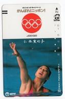 JAPON TELECARTE ANCIENNE NTT FRONTBAR BARCODE 390-049 Année 1987 J O - Jeux Olympiques