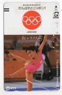 JAPON TELECARTE ANCIENNE NTT FRONTBAR BARCODE 390-048 Année 1987 J O - Jeux Olympiques