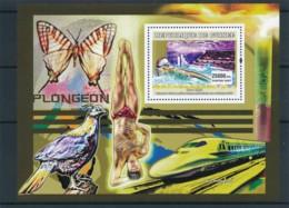 D - [402216]TB//**/Mnh-Guinée 2006 - Natation , Trains, Papillons - Natation