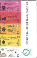 RATP PARIS EN 2007 FAITES PASSER VOS VŒUX  CARTES DE VŒUX FORMAT TICKET DE METRO COMPLET - Titres De Transport