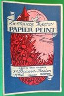 PLAQUETTE PUBLICITAIRE BRICARD ET BESSON PARIS VI . MAISON PAPIER PEINT / 6 DECORS ILLUSTRES / ANNEES 20'  Catalogue - Publicités