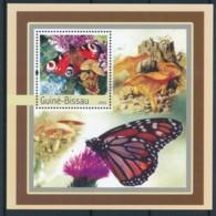 D - [402323]TB//**/Mnh-Guiné-Bissau 2003 - Papillons, Champignons - Papillons