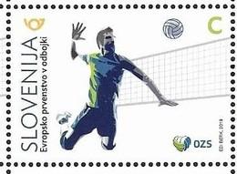 SLOVENIA , 2019, MNH, VOLLEYBALL, EUROPEAN VOLLEYBALL CHAMPIONSHIP, 1v - Volleyball
