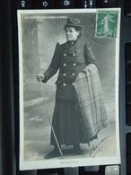 Cpa Photo Mme DUFAUT Tampon De La Fabrique De Rubans De Velours Rue Miche Bizot PARIS 1908 + Tampon Sec  To :  AMIENS - - Métiers