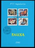 Yugoslavia 1986 / Fauna, Moths & Butterflies / Prospectus, Leaflet, Brochure - Sonstige