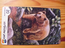 Phonecard Israel - Bear - Israel