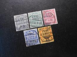 D.R.Mi 1/3/4/5/6 - Dienstmarken  1903  Mi 10,30 € - Used Stamps