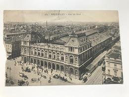 Carte Postale Ancienne (1920)  BRUXELLES Gare Du Nord - Chemins De Fer, Gares