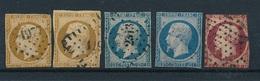 DB-18 FRANCE: Lot Avec Napoléon   Défectueux à Très Défectueux (n°9(2)-15(2)-18) - 1852 Louis-Napoleon