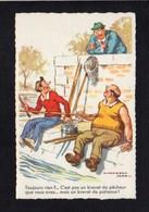 Fantaisie,Humour Illustrateur Signé Chaperon Jean / Toujours Rien ? ...Sport Pêche à La Ligne,pêcheur . - Chaperon, Jean
