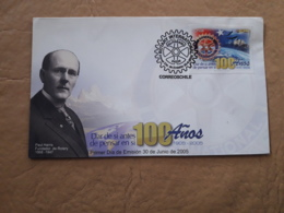 Chili, FDC 100 Ans Du Rotatoire - Rotary, Club Leones