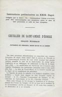 Franc-Maçonnerie. Francs-Maçons. Chevalier De Saint-André D'Ecosse - Esotérisme