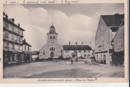 CPA : Clairvaux Les Lacs   Place De L'Eglise    Cafés     Epicerie L'Economique   Ed Combier - Clairvaux Les Lacs